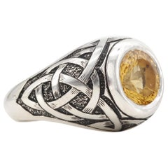 Handmade Men's Citrine Ring