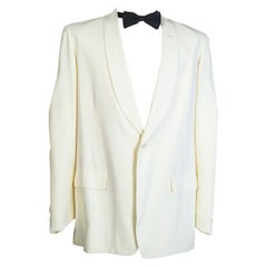 Men's City of Paris Ivory Shawl Collar Dinner Jacket, 1949