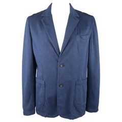 Men's CLOSED 42 Navy Cotton Jersey Notch Lapel Sport Coat