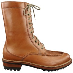 Men's COLE ROOD HAAN CO. Size 10.5 Tan Leather Whipstitch Tall Boots