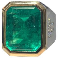 Men's Columbian Emerald Ring