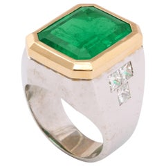 Men's Columbian Emerald Ring