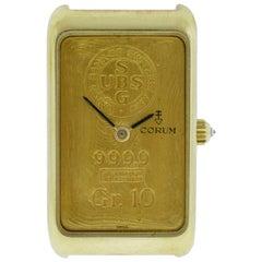 Men's Corum Ingnot 24 Karat 10 Gram Gold 999.9 Mechanical Diamond Watch