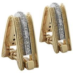 Men's Diamond and Gold Cufflinks