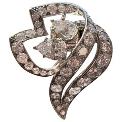 Men's Diamond Cartier Lapel Brooch