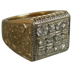 Men's Diamond Dice Medusa Ring