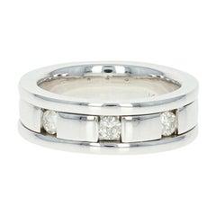 Men's Diamond Wedding Band, 14 Karat Gold Ring Comfort Fit Round Cut .50 Carat