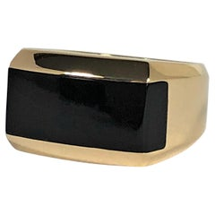 Men's DiModolo Heavy Weight Onyx and Gold Ring