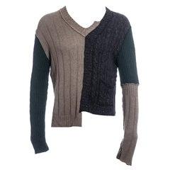 Men's Dolce & Gabbana multicoloured wool deconstructed sweater, fw 1995