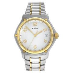 Men's Ebel 1911 Date 1187241 16665P Gold and Steel Quartz Date Watch