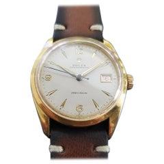 Men's Gold-Capped Rolex Oysterdate Precision 6294 Hand-Wind, circa 1950s MA186