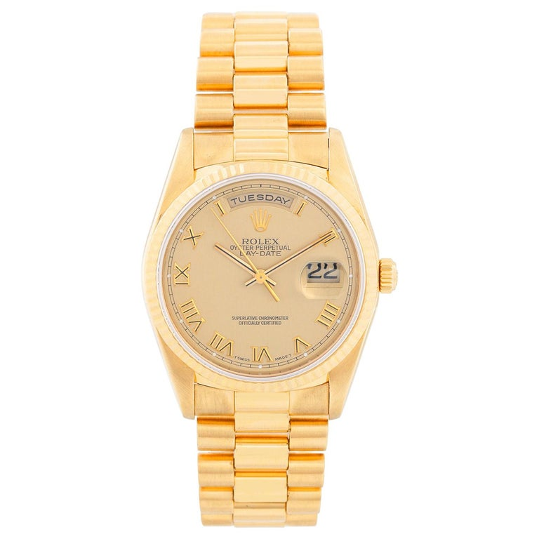 Men's Gold Rolex President Day-Date Watch 18238 For Sale