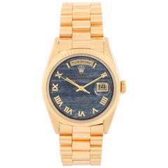 Men's Gold Rolex President Day-Date Watch Ferrite Dial 18238