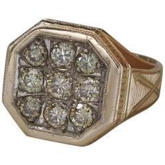 Men's Greco-Roman 14 Karat Green Diamond Arrow Ring