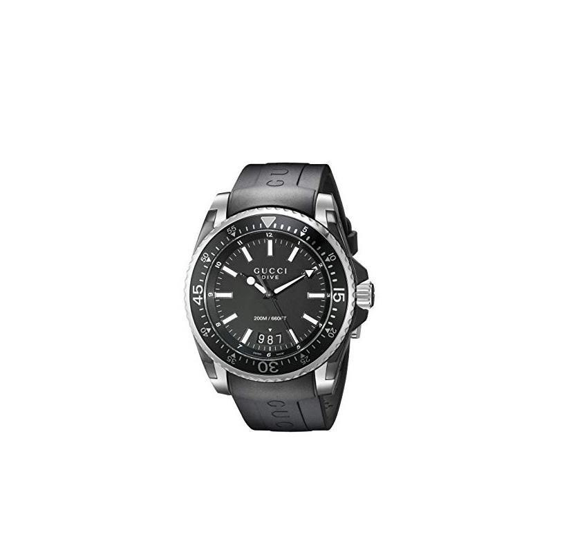 Men's Gucci Dive Black Dial Watch YA136204A