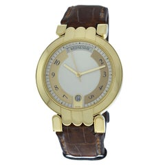 Men's Harry Winston Premier 18 Karat Yellow Gold Day Date Automatic Watch
