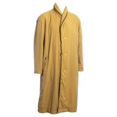 Men's Issey Miyake yellow nylon puffer coat, fw 1988