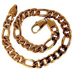 Men's Italy Curb Link Bracelet 14 Karat