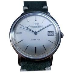 Men's IWC 18 Karat White Gold Date Automatic cal.8541, Swiss Vintage LV956GRN
