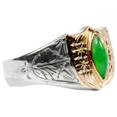 Men's Jade Ring Art Deco Japanese
