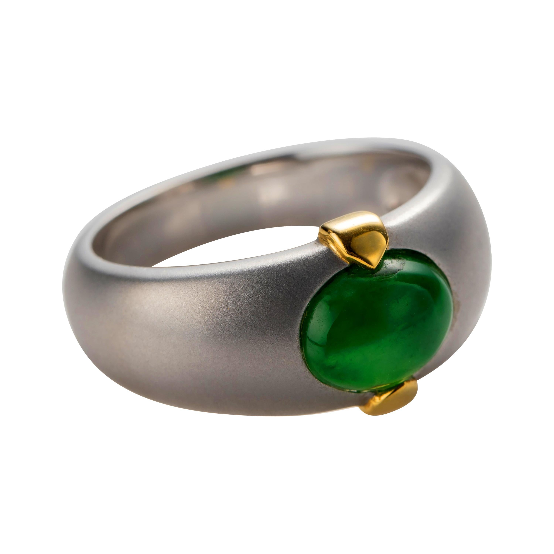 Men's Jade Ring Certified Untreated