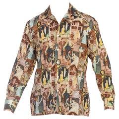 Mens JC Leyendrecher 1920's Arrow Shirt Man 1970's Discoshirt
