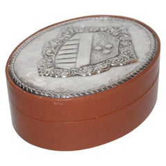 Men's Leather and Sterling Silver Jewelry Box