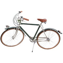 Men's Leather - Covered Bicycle Tobacco and Green