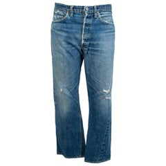 Men's Levi Strauss 501XX Denim Jeans with Hidden Rivets – size 32 x 38, 1962-64