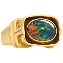 Men's Lightning Ridge Opal Ring