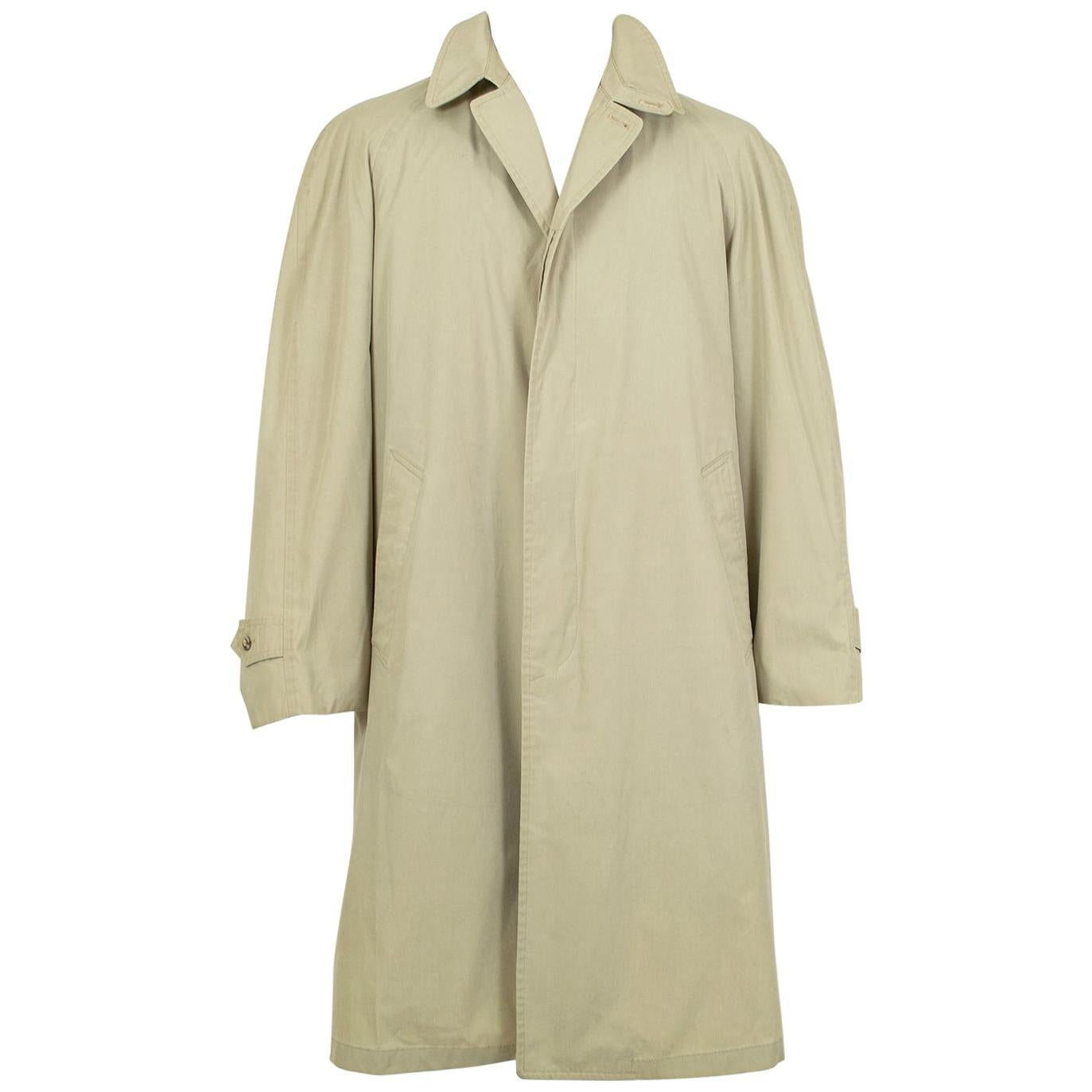 Men's London Fog Trench Raincoat with Removable Alpaca Lining – sz 40/42, 1950s