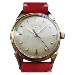 Men's Longines 14 Karat Gold Cal.23 Manual-Wind Dress Watch, Swiss LV818RED