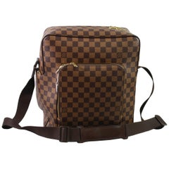 Men's Louis Vuitton Damier Ebene Monogram Messenger MM Bag.