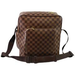 Men's Louis Vuitton Damier Ebene Monogram Messenger MM Bag.