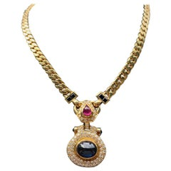 Men's Multi Gem Necklace