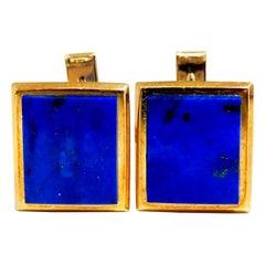 Men's Natural Lapis Lazuli Cufflink Cobalt Blues