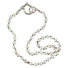 Men's Necklace Saltwater Pearl and Steel