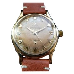 Men's Omega 14 Karat Gold Constellation De Luxe Automatic, Swiss Vintage LV666