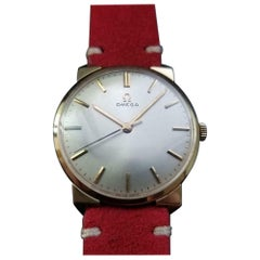 Men's Omega 14K Solid Gold Manual Hand-Wind cal.600 Dress Watch, c.1964 LV317RED