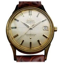 Men's Omega 18K Gold Constellation Calendar Automatic w/Date c.1960 Swiss LV662