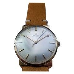 Men's Omega Cal.600 Manual-Wind 14k Solid Gold Dress Watch c.1964 Swiss LV317TAN