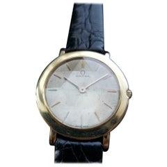 Men's Omega Midsize 18 Karat Gold Manual-Wind Ultra-Thin Dress Watch MS196BLK