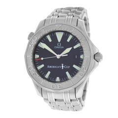 Men's Omega Seamaster America's Cup Limited Edition Gold Bezel Watch