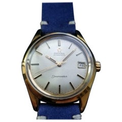 Men's Omega Seamaster Gold-Capped Automatic with Date Vitnage Swiss LV399BLU