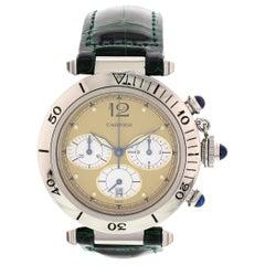Men's Pasha de Cartier Chronograph Stainless Steel Watch