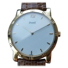Men's Piaget 18 Karat Solid Gold Midsize Dancer Quartz Dress Watch, LV590TAN