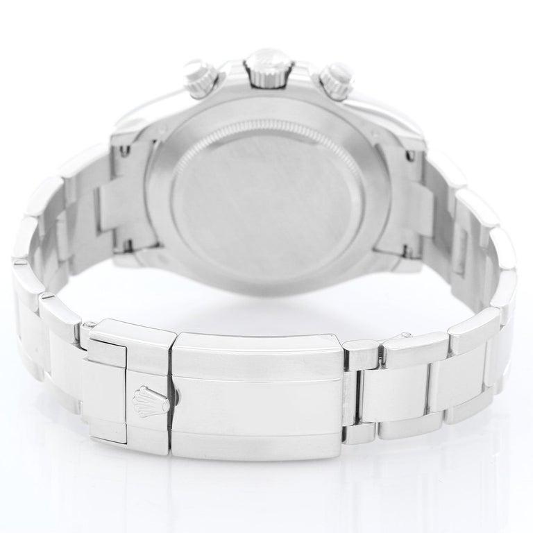Men's Platinum Rolex Daytona Watch 116506 with Glacier Blue Dial In Excellent Condition For Sale In Dallas, TX