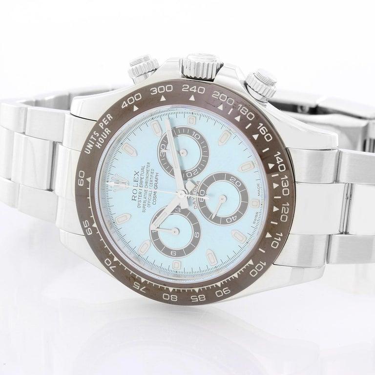 Men's Platinum Rolex Daytona Watch 116506 with Glacier Blue Dial For Sale 1