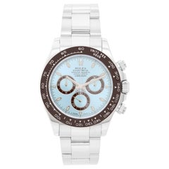 Men's Platinum Rolex Daytona Watch 116506 with Glacier Blue Dial