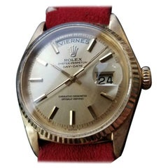 """Men's Rolex 18k Gold """"President"""" Ref.1803 Day-Date Automatic, c.1960s LV886RED"""
